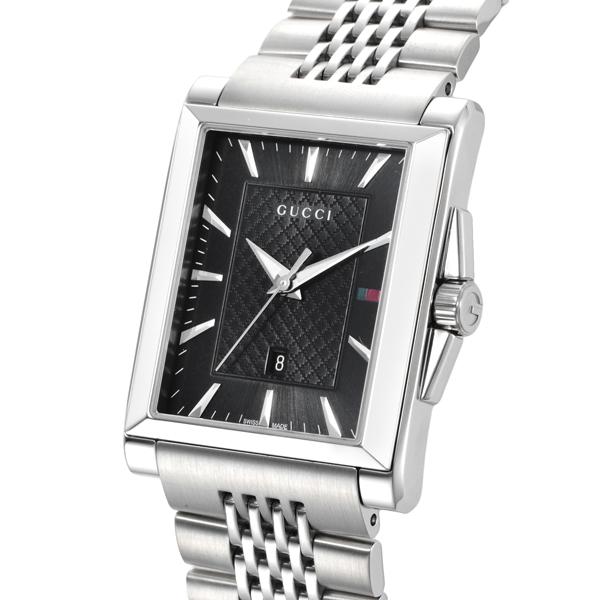 グッチ GUCCI レクタングル クオーツ メンズ 腕時計 YA138401 ブラック