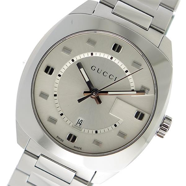 グッチ GUCCI GG2570 クオーツ メンズ 腕時計 YA142308 シルバー