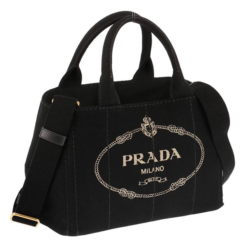 プラダ PRADA 1BG439 CANAPA/NER 手提げバッグ トートバッグ ハンドバッグ レディース