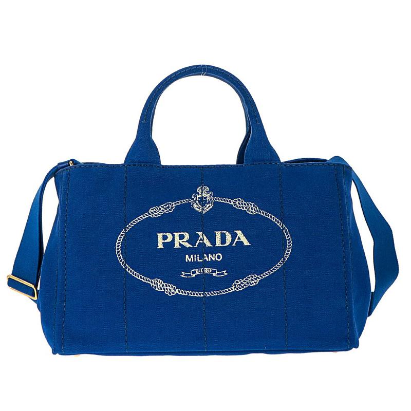 プラダ PRADA 1BG642 CANAPA/COBALTO 手提げバッグ トートバッグ ハンドバッグ レディース