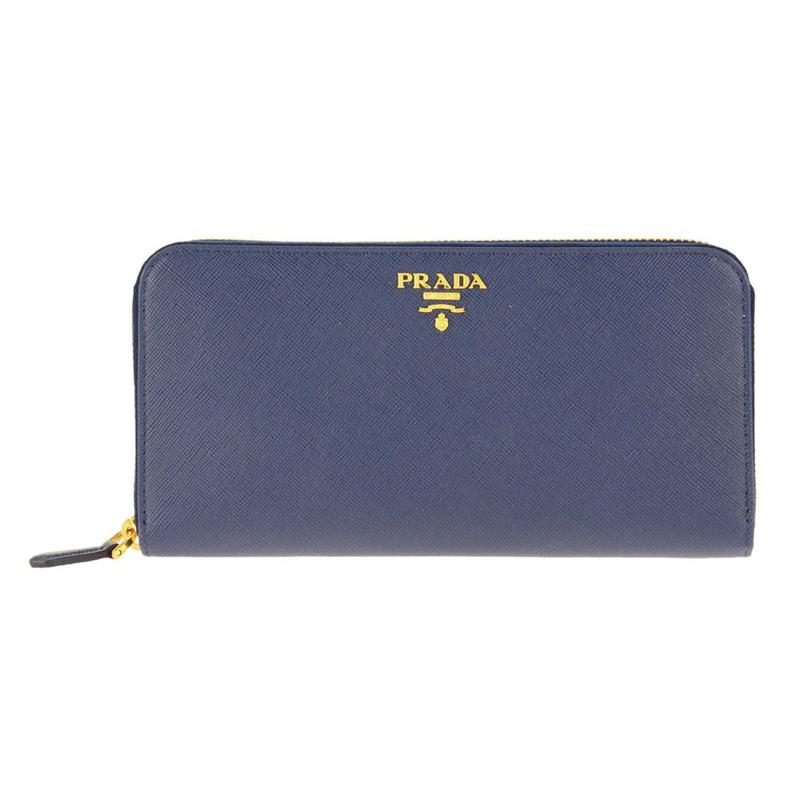プラダ PRADA 1ML506 S/ME/BLUETTE 長財布 ウォレット レディース