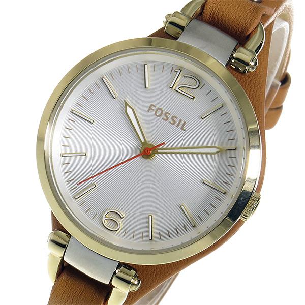 フォッシル FOSSIL ジョージア クオーツ レディース 腕時計 ES3565 シルバー