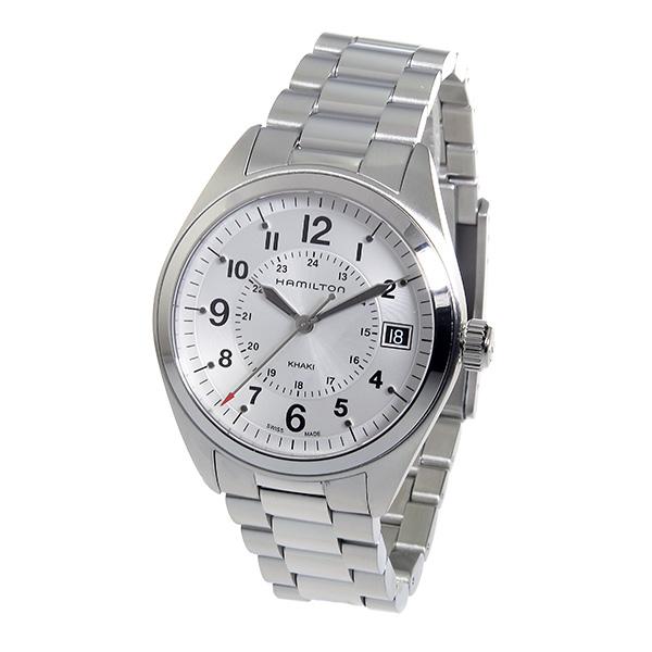 ハミルトン HAMILTON カーキフィールド クオーツ メンズ 腕時計 H68551153 シルバー