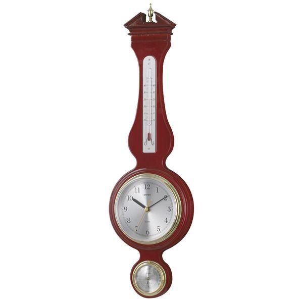 エンペックス ウエストミンスター温度・湿度・時計 Super EX preseed TQ-708 ブラウン