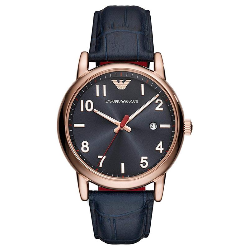 エンポリオ アルマーニ EMPORIO ARMANI ルイージ LUIGI メンズ ダークブルー レッド 腕時計 AR11135 【あす楽】