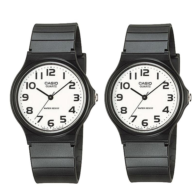 【素敵なラッピング付】 CASIO カシオ チープカシオ ペアウォッチ 腕時計 時計 ユニセックス チープ カシオ チプカシ プチプラ 軽量 おしゃれ プレゼント カップル 恋人 夫婦 記念日 ブラック ホワイト MQ-24-7B2 MQ-24-7B2 カシオ ペア ウォッチ