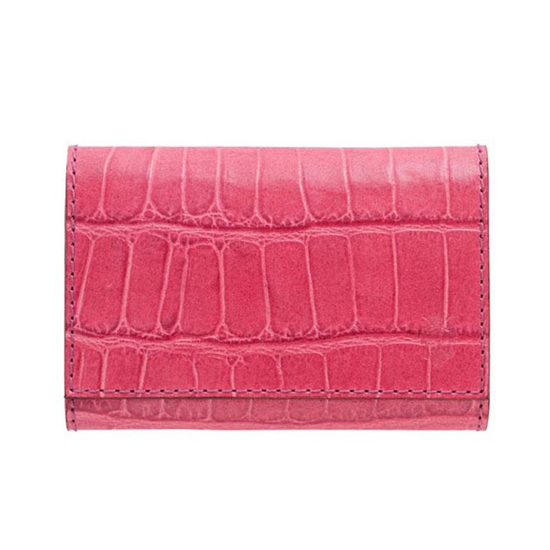 フェリージ FELISI クロコ型押し メンズ レディース ユニセックス 名刺入れ カードケース ピンク カードケース 450 SA 31PZkXiu