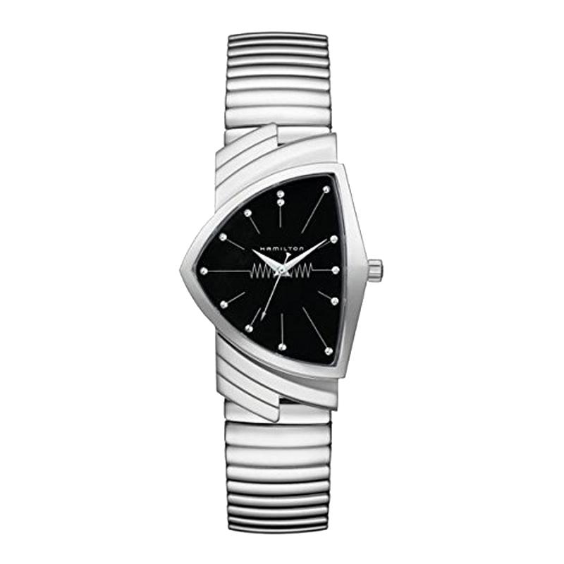 ハミルトン HAMILTON ベンチュラ クオーツ メンズ 腕時計 ブラック シルバー H24411232