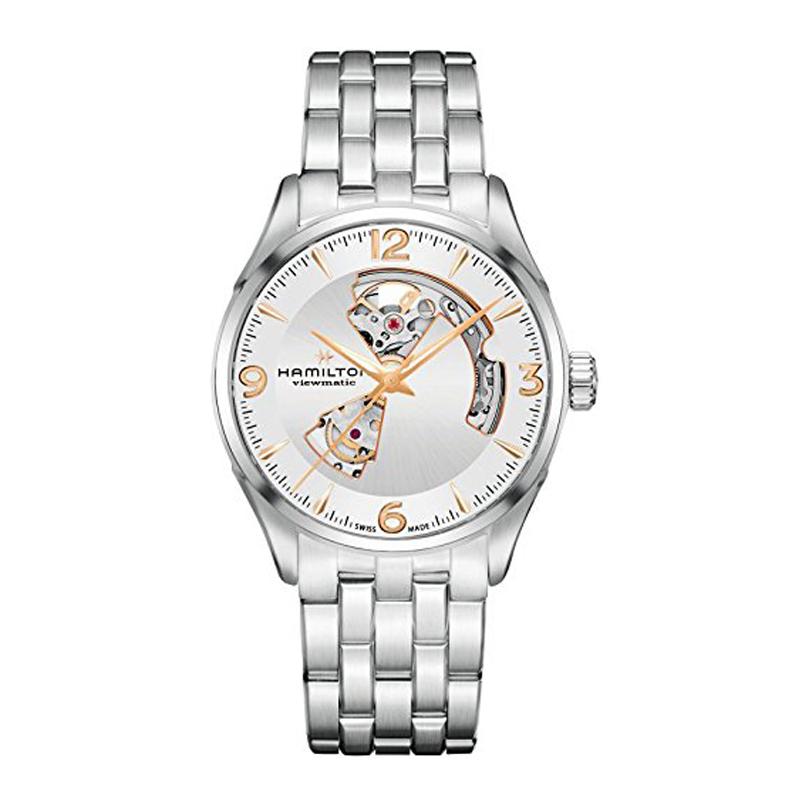 ハミルトン HAMILTON ジャズマスター Jazzmaster ビューマチック オープンハート 自動巻き メンズ 腕時計 シルバー H32705151