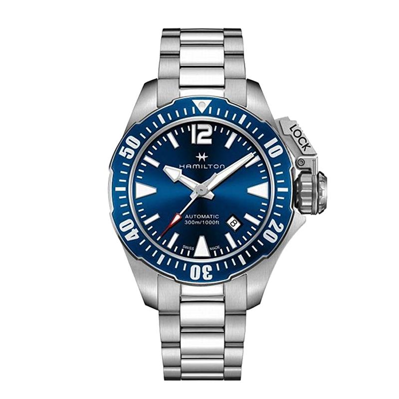 ハミルトン HAMILTON カーキ ネイビー オープンウォーター KHAKI NAVY 自動巻き オートマ ダイバーズ メンズ 腕時計 ブルー シルバー H77705145