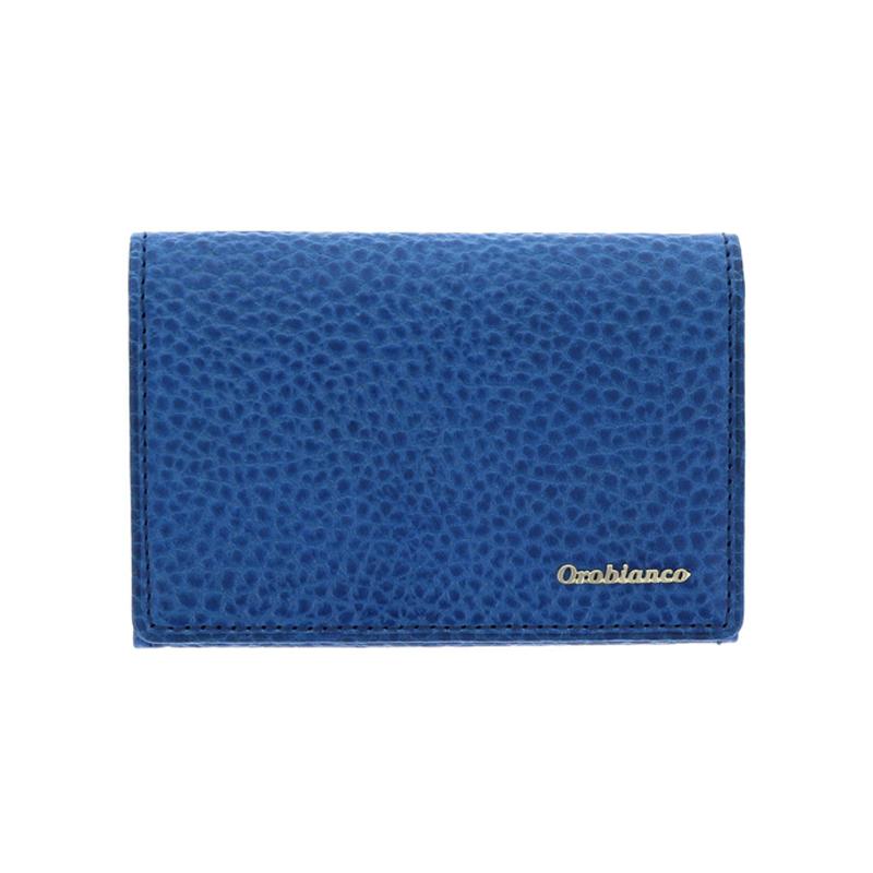 オロビアンコ Orobianco トラシボシリーズ 名刺入れ カードケース 型押しレザー メンズ ブルー ORS-021008-BL