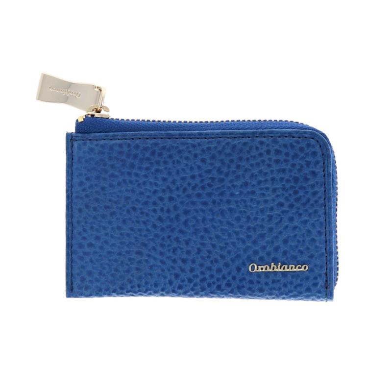 オロビアンコ Orobianco トラシボシリーズ コインケース 小銭入れ ラウンドファスナー 型押しレザー メンズ ブルー ORS-021018-BL