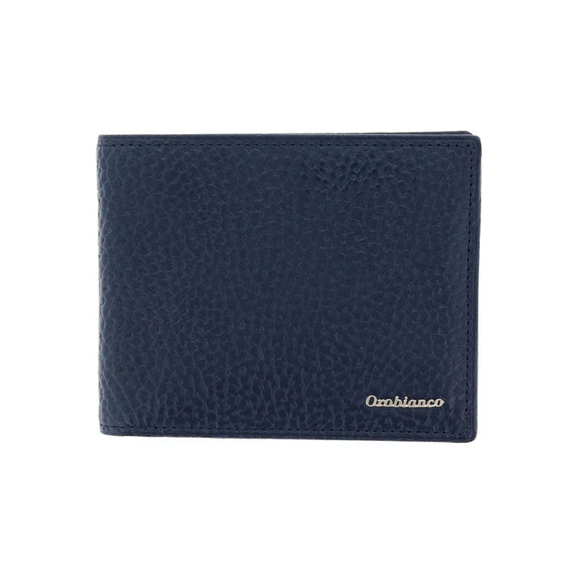 オロビアンコ Orobianco トラシボシリーズ 二つ折り財布 メンズ 小銭入れ付 型押しレザー ネイビー ORS-022008-NV