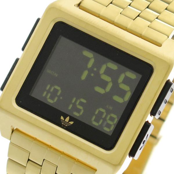 アディダス ADIDAS 腕時計 メンズ レディース ユニセックス Z01-513 アーカイブ-M1 ARCHIVE-M1 CJ6308 クオーツ ブラック ゴールド