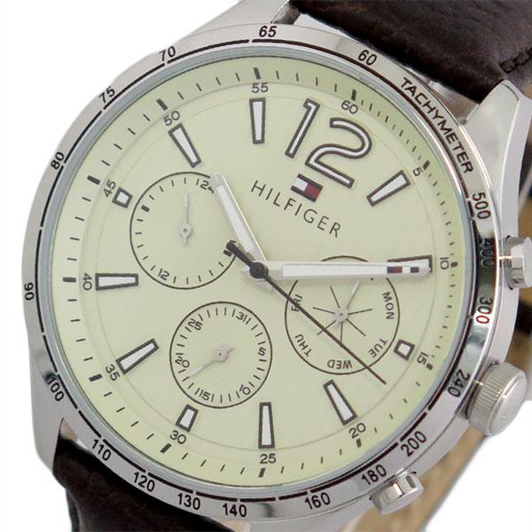 トミー ヒルフィガー TOMMY HILFIGER 腕時計 メンズ 1791467 クオーツ オフホワイト ダークブラウン