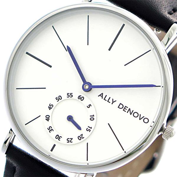 アリーデノヴォ ALLY DENOVO ヘリテージスモールアイ Heritage Small Eye 腕時計 レディース 36mm AF5001-1 クオーツ ホワイト ブラック