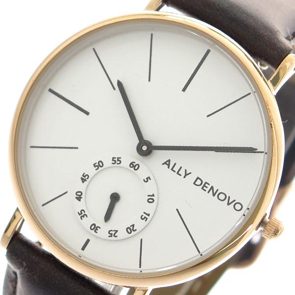 アリーデノヴォ ALLY DENOVO ヘリテージスモールアイ Heritage Small Eye 腕時計 レディース 36mm AF5001-6 クオーツ ホワイト ダークブラウン