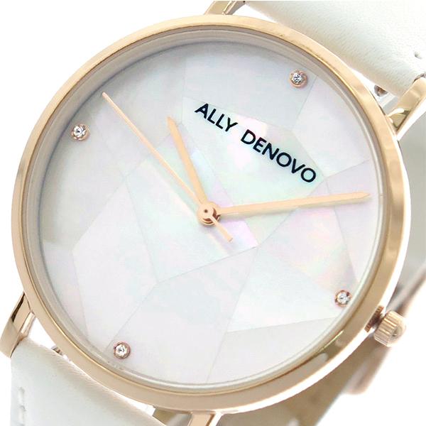 アリーデノヴォ ALLY DENOVO ガイアパール Gaia Pearl 腕時計 レディース 36mm AF5003-10 クオーツ ホワイトシェル ホワイト