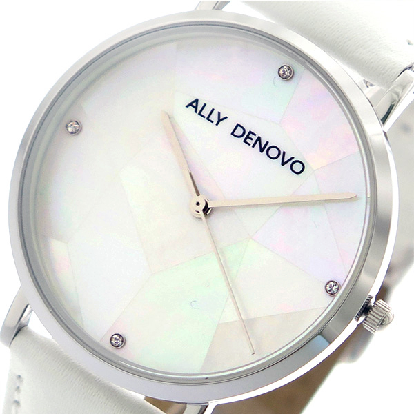 アリーデノヴォ ALLY DENOVO ガイアパール Gaia Pearl 腕時計 レディース 36mm AF5003-6 クオーツ ホワイトシェル ホワイト