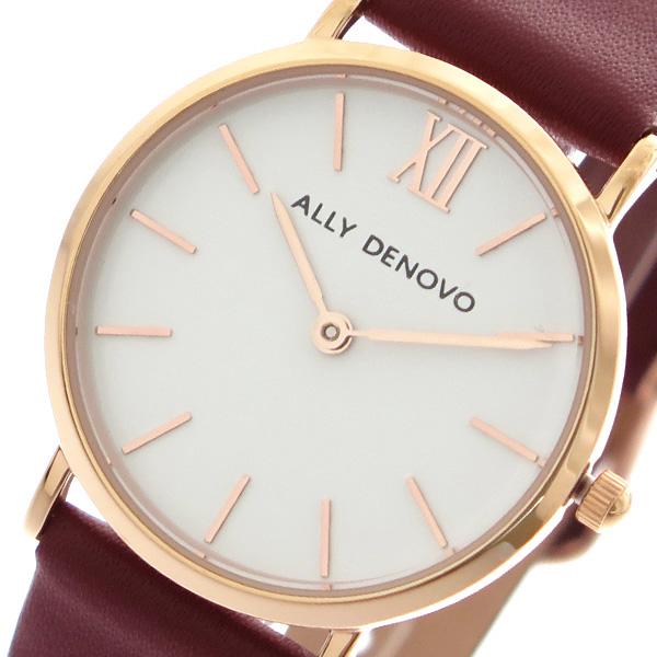 アリーデノヴォ ALLY DENOVO ミニニュービンテージ Mini New Vintage 腕時計 レディース 30mm AS5001-3 クオーツ ホワイト ワイン