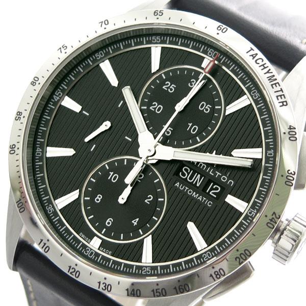 ハミルトン HAMILTON 腕時計 メンズ H43516731 クロノグラフ 自動巻き ブラック