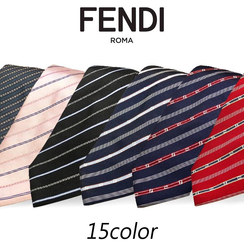 【ギフト対応】 フェンディ FENDI 18年秋冬モデル AW18 新作 ネクタイ メンズ シルク ストライプ プレゼント ビジネス