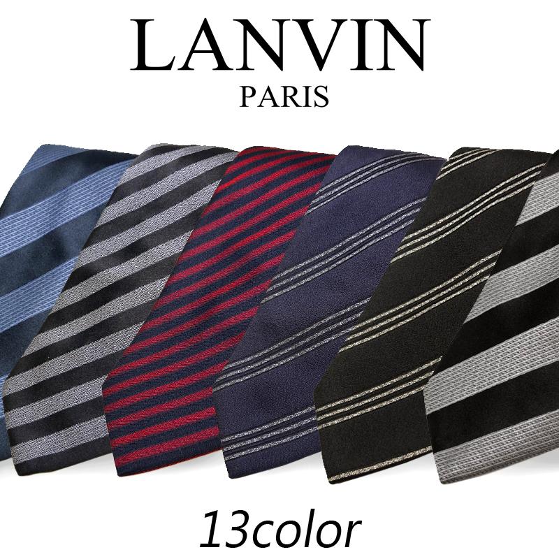 【ギフト対応】 ランバン LANVIN 18年秋冬モデル AW18 新作 ネクタイ メンズ シルク ストライプ プレゼント ビジネス