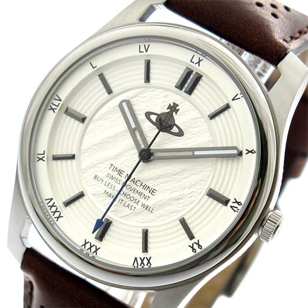 ヴィヴィアン ウエストウッド Vivienne Westwood 腕時計 メンズ VV185SLBR クオーツ ホワイトシルバー ブラウン