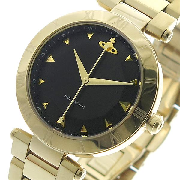 ヴィヴィアン ウエストウッド Vivienne Westwood 腕時計 メンズ レディース ユニセックス VV206BKGD クオーツ ブラック ゴールド