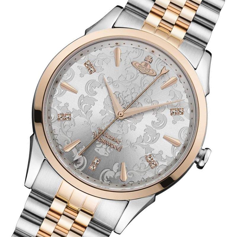 ヴィヴィアン ウエストウッド Vivienne Westwood 腕時計 メンズ レディース ユニセックス VV208RSSL クオーツ シルバー ピンクゴールド