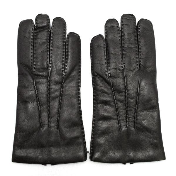 デンツ DENTS 高級手袋 グローブ 革 防寒 メンズ ブラック Lサイズ #8 1/2 5-1527
