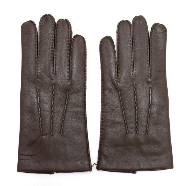 デンツ DENTS 高級手袋 グローブ 革 防寒 メンズ ブラウン Lサイズ #8 1/2 5-1527