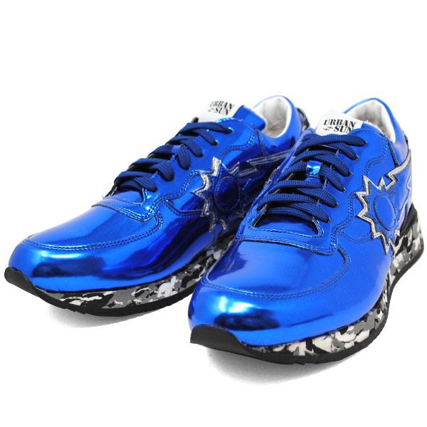 アーバンサン URBAN SUN ANDRE 125 アンドレ BLUE ブルー メタリック メンズ スニーカー 靴 URBANSUN 39 40 41 42 43 44 45