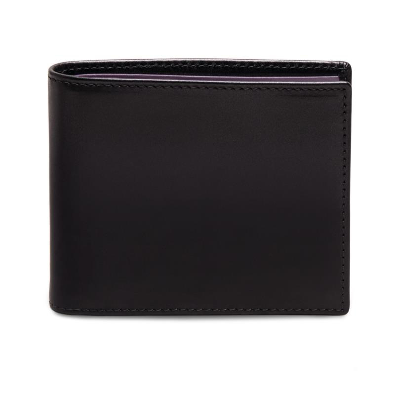エッティンガー ETTINGER 二つ折り 財布 短財布 小銭入れ付き スターリングシリーズ カーフ メンズ ロイヤルコレクション ブラック×パープル ST141JR-BKPU