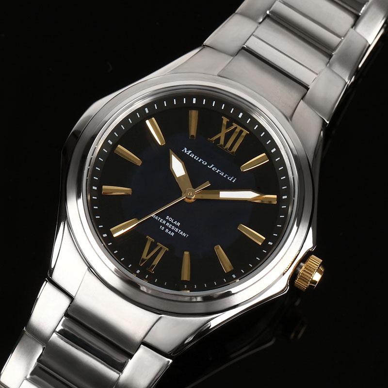 マウロ ジェラルディ Mauro Jerardi ソーラー チタン メンズ 腕時計 MJ039-1