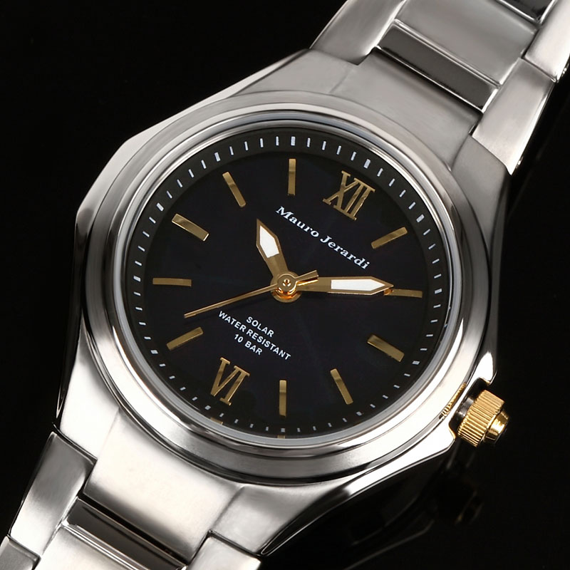 マウロ ジェラルディ Mauro Jerardi ソーラー チタン レディース 腕時計 MJ040-1
