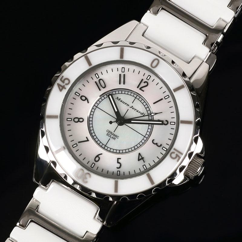 マウロ ジェラルディ Mauro Jerardi ソーラー セラミック メンズ 腕時計 ホワイト MJ041-2