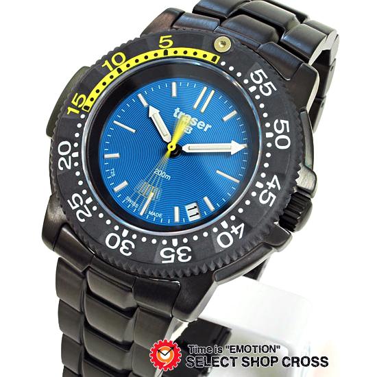 トレーサー TRASER 腕時計 NAUTIC ノーティック ミリタリー 腕時計 P6504.33C.6E.03 黒×青 【男性用腕時計 リストウォッチ ランキング ブランド 防水 カラフル】