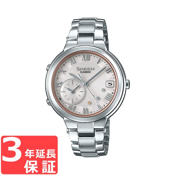 【名入れ対応】 【3年保証】 カシオ CASIO シーン SHEEN ソーラー レディース 国内正規品 腕時計 シルバー SHB-200AD-4AJF SHB-200AD-4A