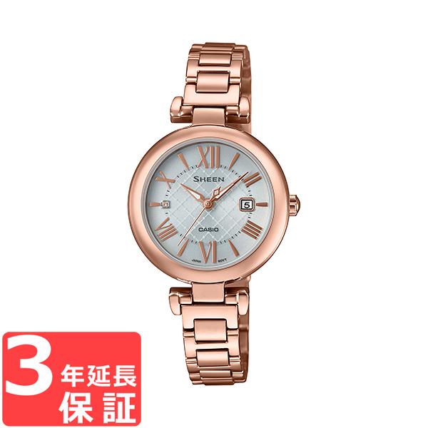 【無料ギフトバッグ付き】 【名入れ対応】 【3年保証】 カシオ CASIO シーン SHEEN ソーラー レディース 国内正規品 腕時計 ゴールド SHS-4502LTD-7AJR SHS-4502LTD-7A