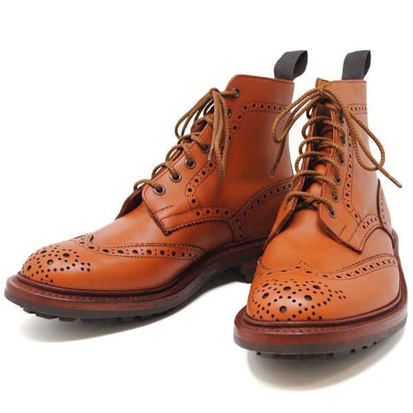トリッカーズ TRICKERS MALTON マートン (25~27cm) コマンドソール メンズ アンティーク カントリーブーツ 靴 革靴 ブラウン 2508/1 C Shade Tan
