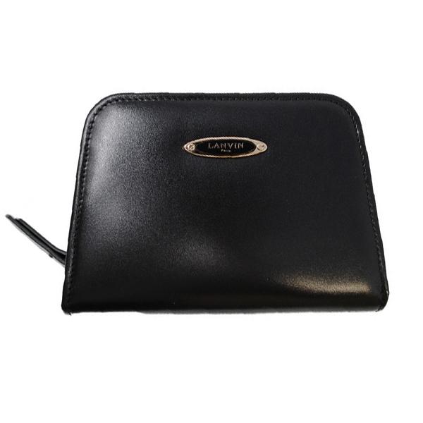 ランバン パリス LANVIN ブラック PARIS Conpact Wallet ランバン Wallet ラウンドファスナー 財布 ウォレット レディース ブラック SLGL00-VANE-P17 10, バイクバイク用品はとやグループ:4089d561 --- publishingfarm.com