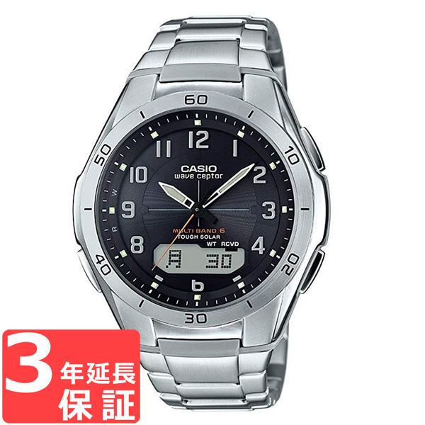 【無料ギフトバッグ付き】 【名入れ対応】 【3年保証】 カシオ CASIO ウェーブセプター WAVE CEPTOR ソーラー 電波 メンズ 国内正規品 腕時計 シルバー WVA-M640D-1A2JF WVA-M640D-1A2