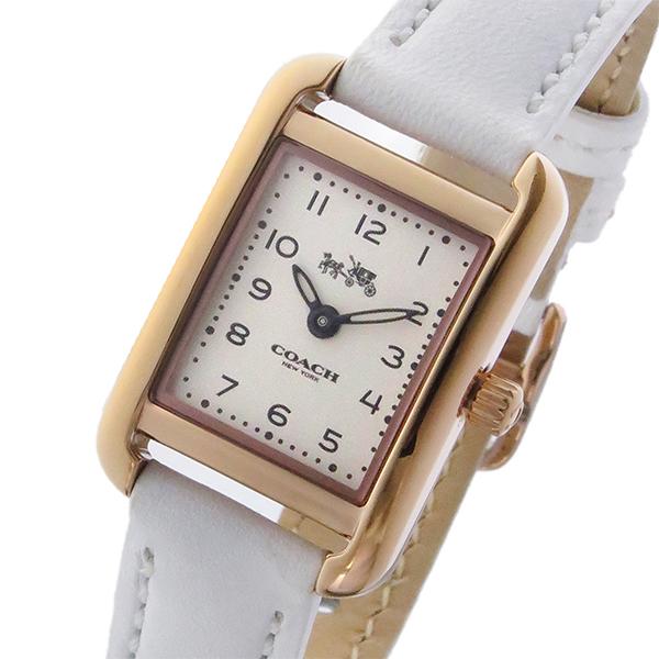 コーチ COACH トンプソン THOMPSON クオーツ レディース 腕時計 14502298 ホワイト