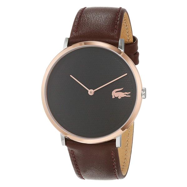 ラコステ LACOSTE 腕時計 2010952 MOON ブラック×ブラウンレザー ユニセックス メンズ レディース 【あす楽】