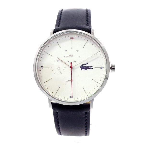 ラコステ LACOSTE 腕時計 2010975 MOON ホワイト×ネイビーレザー ユニセックス メンズ レディース