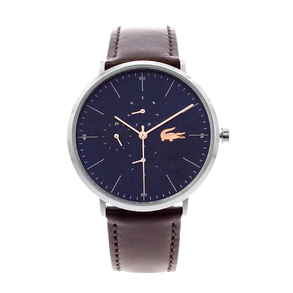 ラコステ LACOSTE 腕時計 2010976 MOON ネイビー×ブラウンレザー ユニセックス メンズ レディース