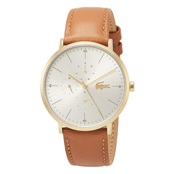ラコステ LACOSTE 腕時計 2010977 MOON シルバー×ブラウンレザー ユニセックス メンズ レディース