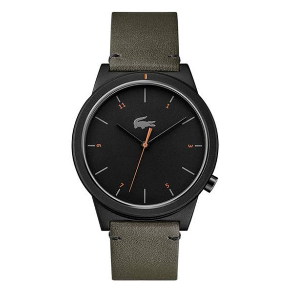 ラコステ LACOSTE 腕時計 2010991 Motion ブラック×カーキレザー ユニセックス メンズ レディース