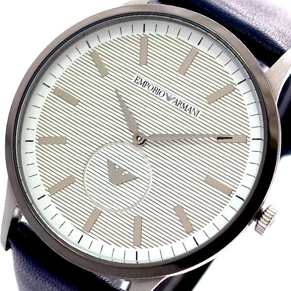 エンポリオ アルマーニ EMPORIO ARMANI 腕時計 メンズ AR11119 クオーツ ホワイト ネイビー